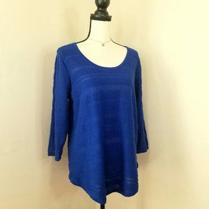 Eight Eight Eight blue cotton sweater top shirt L